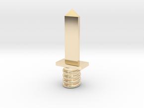 Dagger in 14K Yellow Gold