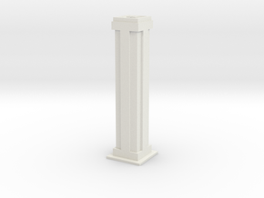 Tower Block 2 in White Natural Versatile Plastic