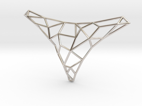 Polygon necklace in Platinum