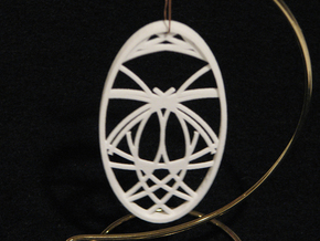 Ornament 02f in White Natural Versatile Plastic
