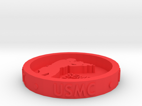 US Marine Corps in Red Processed Versatile Plastic