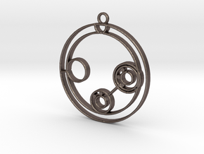 Lillian - Necklace in Polished Bronzed Silver Steel