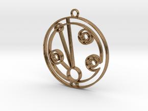 Madeleine - Necklace in Natural Brass