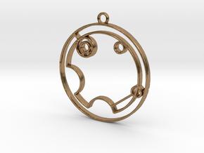 Violet - Necklace in Natural Brass