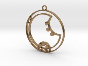 Zara - Necklace in Natural Brass