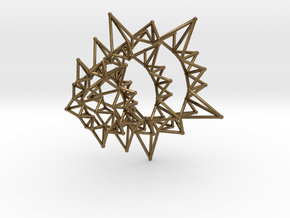 Star Rings 5 Points - 3 pack - 6cm in Natural Bronze
