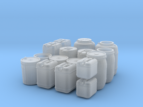 large liquid container set (1/35 scale) in Smooth Fine Detail Plastic
