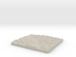Model of Politischer Bezirk Bludenz in Natural Sandstone