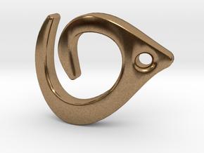 Flowline Pendant in Natural Brass