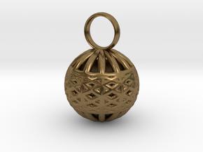 Ornament Pendant in Natural Bronze