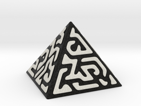 Glyph Pyramid (black + white) in Full Color Sandstone