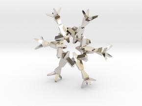 Snow Flake 6 Points B - 4.6cm in Platinum