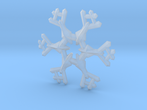 Snow Flake 6 Points A - 5cm in Smooth Fine Detail Plastic