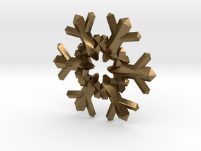 Snow Flake 6 Points F - 4cm in Natural Bronze