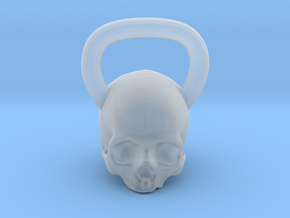 Kettlebell Skull in Smooth Fine Detail Plastic