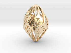 Twisty Spindle d10 Decader in 14K Yellow Gold