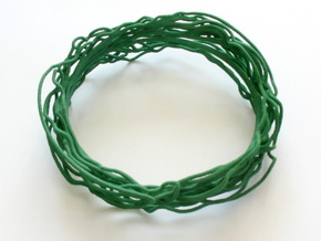 Turbulent Bangle 2 in Green Processed Versatile Plastic
