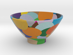DRAW bowl - segmented H in Full Color Sandstone