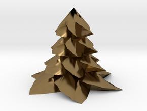 Christmas tree - Sapin De Noel in Polished Bronze