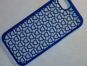 iPhone 5 Case- Hearts in Blue Processed Versatile Plastic