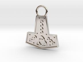 Mjolnir Pendant / Keychain in Platinum