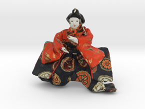 The Japanese Hina Doll in Full Color Sandstone