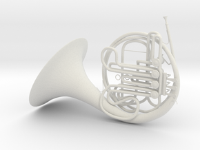 French Horn in White Natural Versatile Plastic