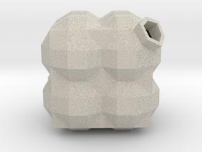 Bauble, Cubic, Quadrantic in Natural Sandstone