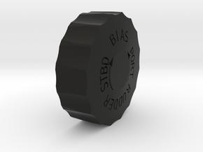 Spitfire Rudder Trim Wheel in Black Natural Versatile Plastic