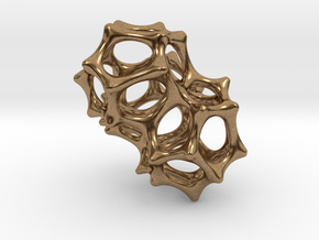 VORONOI CLUSTER II  (Pendant) in Natural Brass