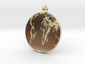 Flat Earth in 14K Yellow Gold
