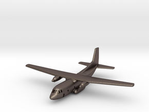 1:700 Transall C-160 military transport aircraft  in Polished Bronzed Silver Steel