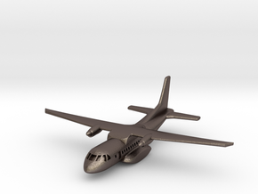 1:700 CASA/IPTN CN-235 military transport aircraft in Polished Bronzed Silver Steel