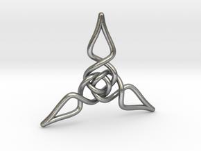 Triquetra Pendant 1 in Natural Silver