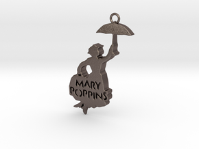 MaryPoppins in Polished Bronzed Silver Steel