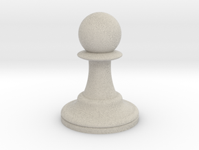 Pawn in Natural Sandstone