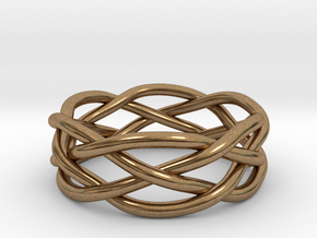 Dreamweaver Ring (Size 8) in Natural Brass