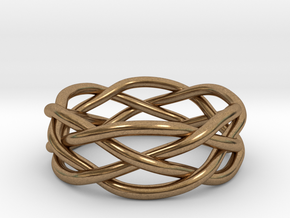 Dreamweaver Ring (Size 10.5) in Natural Brass