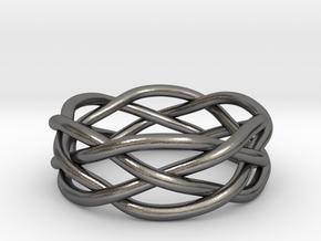 Dreamweaver Ring (Size 11) in Polished Nickel Steel