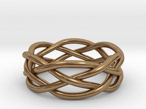 Dreamweaver Ring (Size 11.5) in Natural Brass