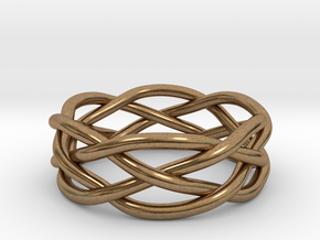 Dreamweaver Ring (Size 12.5) in Natural Brass