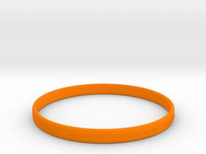 Good Value Bracelet in Orange Processed Versatile Plastic