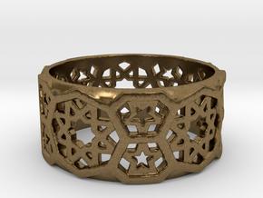 Ring Fatehpur Sikri - size 7.25 in Natural Bronze