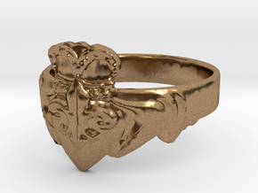 NOLA Claddagh, Ring Size 10 in Natural Brass