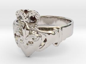 NOLA Claddagh, Ring Size 13 in Platinum
