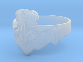 NOLA Claddagh, Ring Size 13 in Smooth Fine Detail Plastic