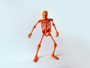 Articulated Skeleton  in Orange Strong & Flexible Polished