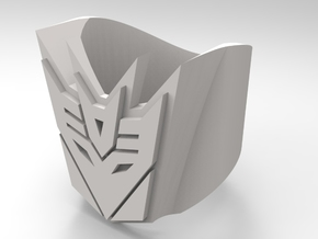 [Transformer] Decepticon-ring Size #6 in Polished Bronzed Silver Steel
