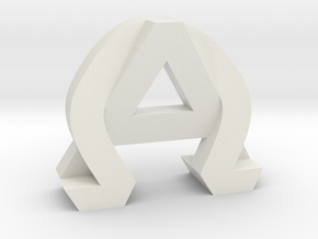 AlphaOmega (Solid) in White Natural Versatile Plastic