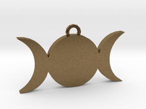Tripple-Moon in Natural Bronze